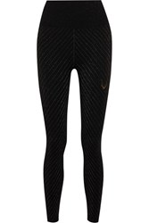 Lucas Hugh Stardust Metallic Stretch Jersey Leggings Black