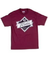 Famous Stars And Straps Famous Stars And Straps Men's In The Rough T Shirt Burgundy