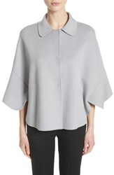 Emporio Armani Women's Wool And Cashmere Swing Caban Coat Crystal