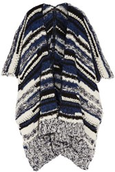 Maje Boucle Knit Wrap Blue