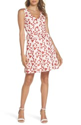 Heartloom Aubrey Embroidered Cotton Dress Flame