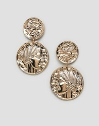 New Look Coin Earrings Gold