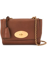 Mulberry Medium Lily Natural Grain Leather Bag Brown