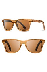 Shwood Women's 'Canby' 54Mm Polarized Wood Sunglasses Zebrawood Brown Polar Zebrawood Brown Polar
