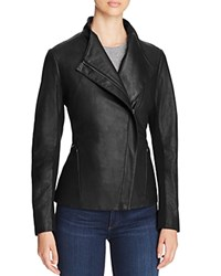 T Tahari Kelly Leather Jacket Black