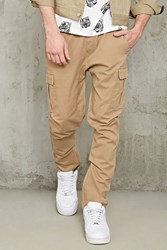 Forever 21 Slim Fit Drawstring Cargo Pants