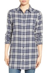 Caslon R Plaid Tunic Shirt White