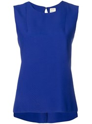 Maison Rabih Kayrouz Gathered Back Tank Top Blue