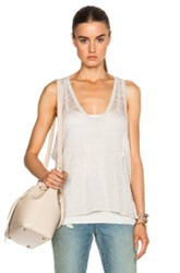 Inhabit Linen Layers Tank In Neutrals