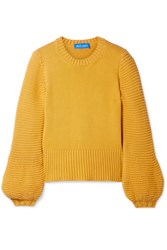 Mih Jeans M.I.H Lova Cashmere And Wool Blend Sweater Saffron
