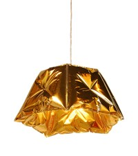 Innermost Dent Pendant Small Gloss Gold 70 Inch Height Orange