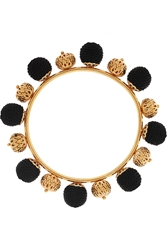 Dolce And Gabbana Gold Plated And Woven Bangle
