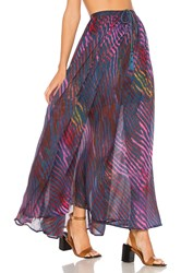 Free People True To You Maxi Skirt Blue