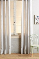 Anthropologie Linen Grommet Curtain Ivory