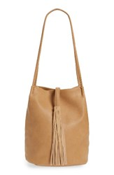 Street Level Faux Leather Bucket Bag Brown Tan