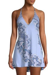 In Bloom Thyme Paisley Print Chemise Blue