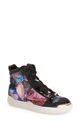 Women's Ted Baker London 'Paryna' High Top Sneaker Pebbles Printed Fabric