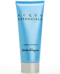 Salvatore Ferragamo Acqua Essenziale Shampoo And Shower Gel 6.8 Oz
