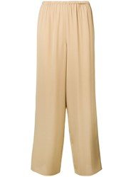 Theory Wide Leg Trousers Neutrals