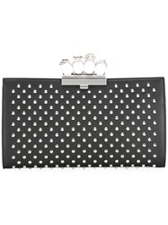 Alexander Mcqueen Knuckle Case Clutch Black