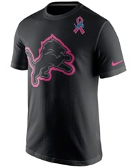 Nike Men's Detroit Lions Bca Travel Shirt Black Pink