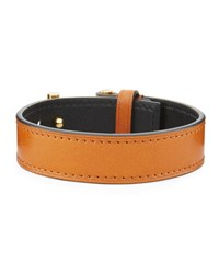 Tom Ford Men's Leather T Buckle Bracelet Tan