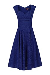 Jolie Moi Ruched Crossover Bust Prom Dress Royal Blue