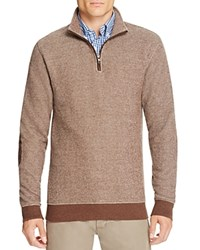 Brooks Brothers Birdseye Half Zip Sweater Brown