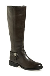 Vince Camuto Farren Leather Riding Boot Gray