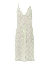 Christopher Kane Crocodile Clip Lace Dress