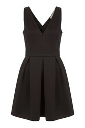 Oh My Love Structured Skater Dress By Black