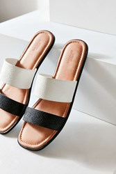Urban Outfitters Multi Strap Slide Black And White