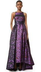 J. Mendel Ball Gown With Paneled Bodice Mulberry Noir