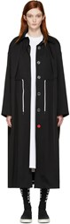Off White Black Mackintosh Couture Trench Coat