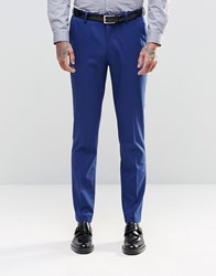 Asos Skinny Fit Suit Trousers In Royal Blue Royal Blue