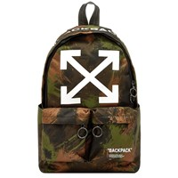 Off White Quote Arrows Backpack Green