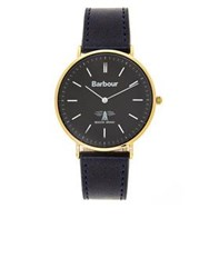 Barbour Hartley Leather Strap Watch Navy