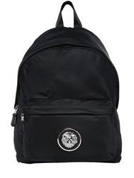 Versus Lion Plaque Nylon Backpack