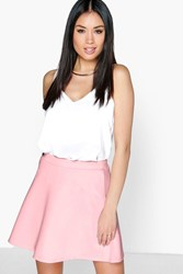 Boohoo Fit And Flare Skater Skirt Rose