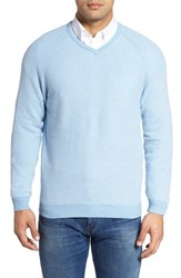 Tommy Bahama Men's 'Make Mine A Double' Reversible Pima Cotton V Neck Sweater Polar Sky