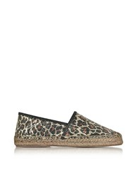 Marc Jacobs Sienna Gold And Multicolor Animal Print Espadrilles