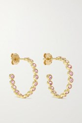 Jennifer Meyer 18 Karat Gold Sapphire Hoop Earrings One Size