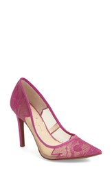 Women's Jessica Simpson 'Cambra' Pointy Toe Pump Vivid Red Microsuede