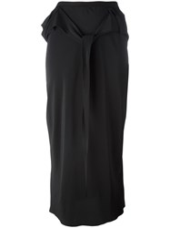 Rick Owens Straight Cut Skirt Black