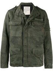 Zadig And Voltaire Bernard Camouflage Parka Coat Green