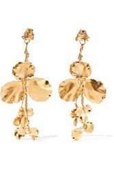 Balenciaga Gold Tone Earrings One Size