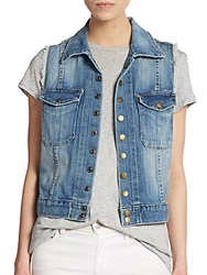 Current Elliott Frayed Denim Vest