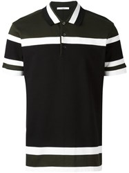 Givenchy Cuban Fit Paneled Polo Shirt Green