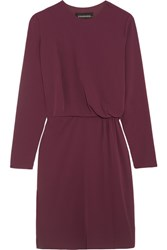 By Malene Birger Draped Crepe Dress Burgundy