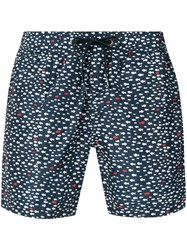 Rrd Printed Swim Shorts Blue